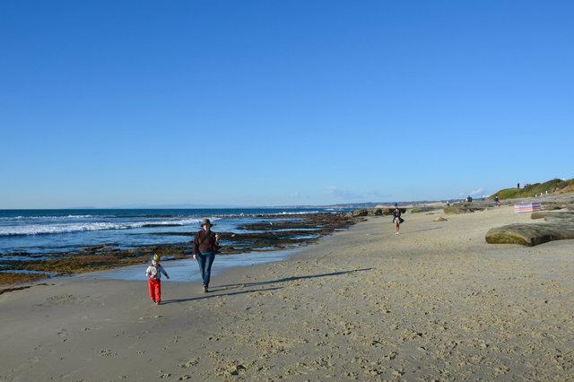 Julian and Kiesa on the beach in La Jolla