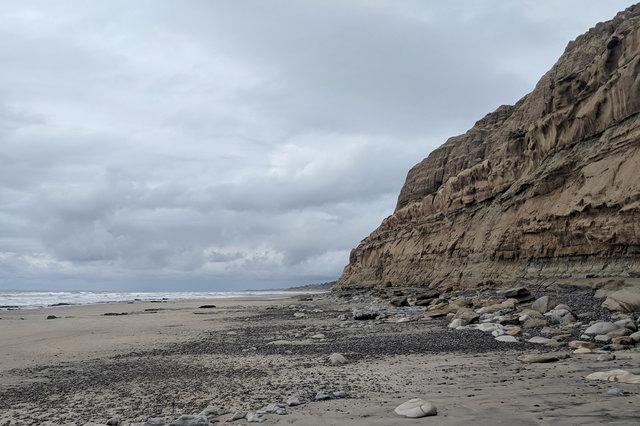 Bluffs above Torrey Pines State Beach