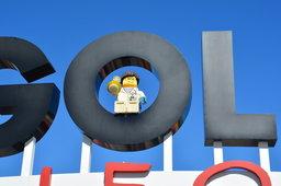 Lego scientist figure inside the Legoland