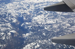 Looking down Yosemite Valley from a 737