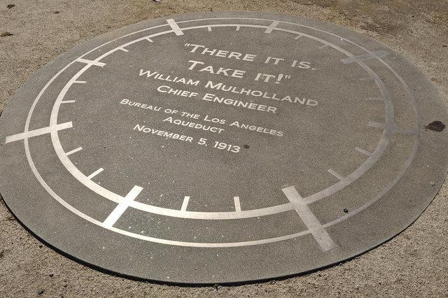 William Mulholland Memorial plaque