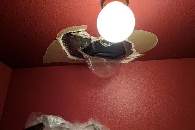 Hole in the closet ceiling