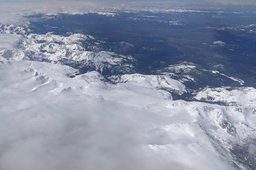 Rocky Mountain National Park covered in snow and clouds