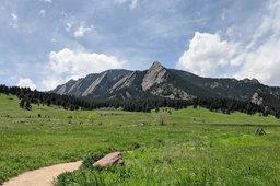 Flatirons and Green Mountain