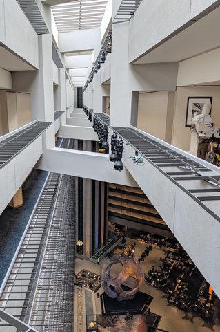Looking down into the lobby of the Hyatt Regency San Francisco