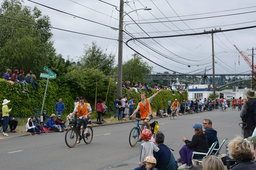 Parade marshals ahead of the Fremont Solstice Parade