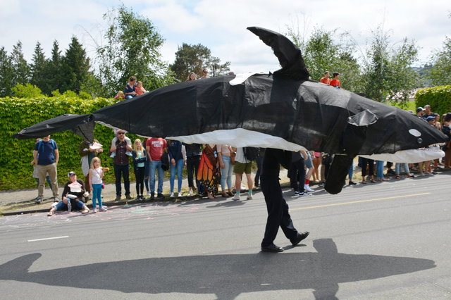 Orca in the Fremont Solstice Parade