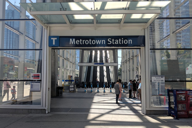 Metrotown Station on Vancouver's Expo Line