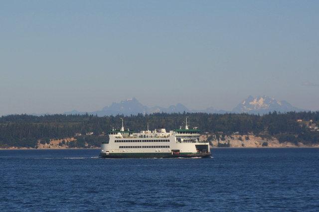 Washington State Ferry Kennewick cruises towards Port Townsend