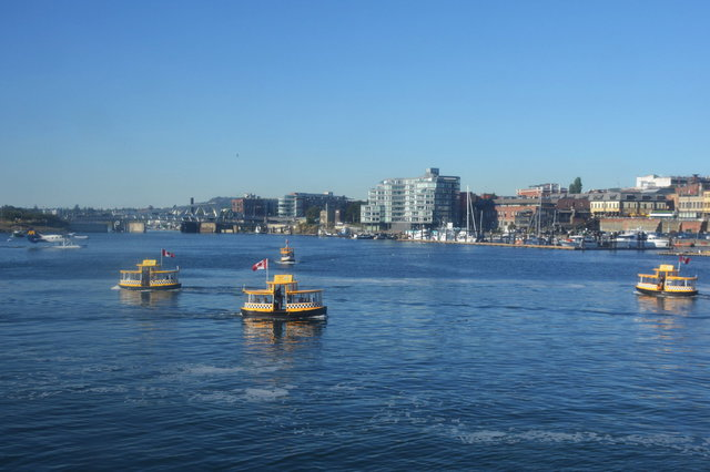 Water taxis in Victoria Inner Harbour