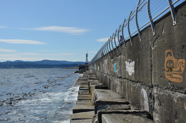 Outside the breakwater in Victoria Harbour