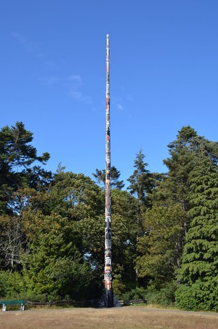 The world's tallest totem pole, Victoria