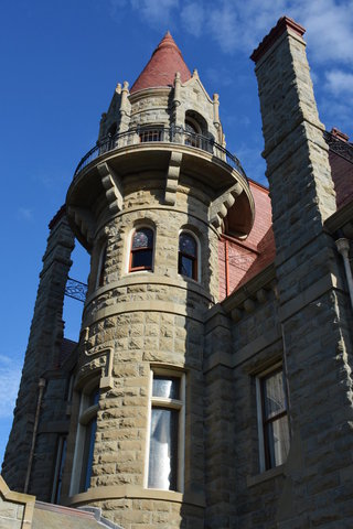 Looking up the tower at Craigdarroch Castle