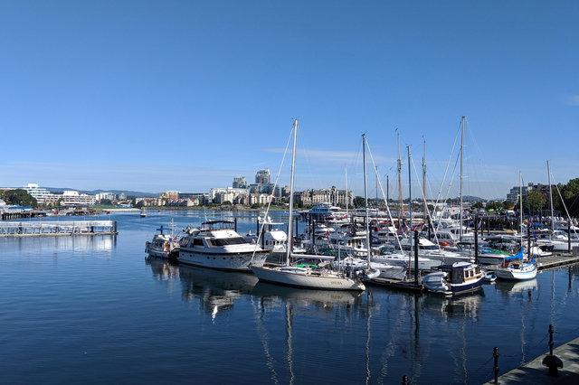 Boats in Victoria's inner harbour