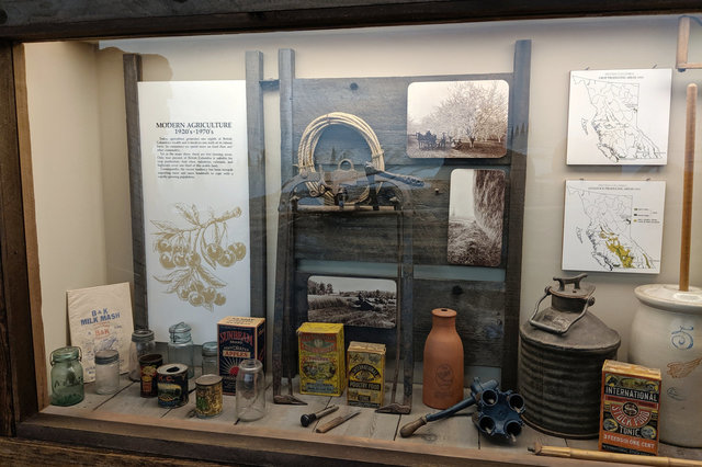 Modern agriculture display at the Royal British Columbia Museum
