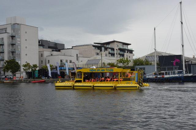 Viking Splash Tours boat Loki on the Grand Canal Dock