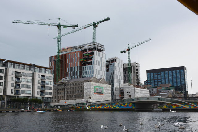 Construction on the Grand Canal Dock