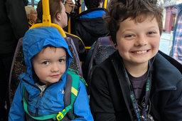 Julian and Calvin ride Luas in Dublin