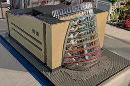 Convention Centre Dublin model in Lego