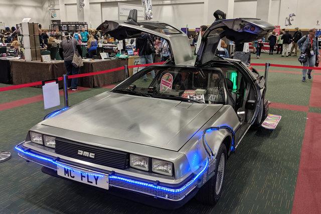 DMC DeLorean dressed up as time machine