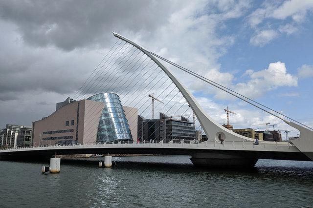 Convention Centre Dublin and the Samuel Beckett Bridge