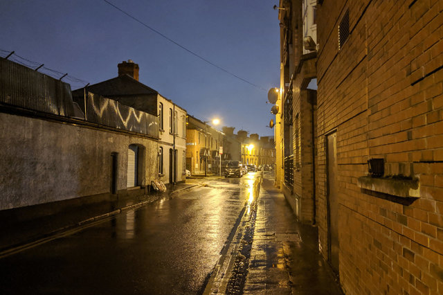 Rain on Hanbury Lane, Dublin