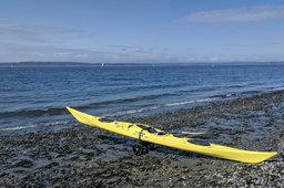 Kayak preparing to launch from Golden Gardens