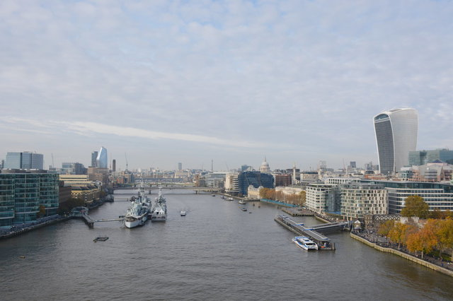 The Walkie-Talkie Building and the River Thames