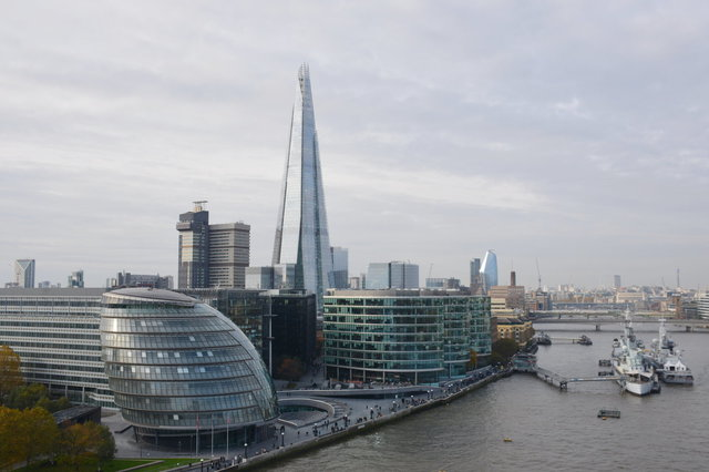 The Shard looms above London City Hall