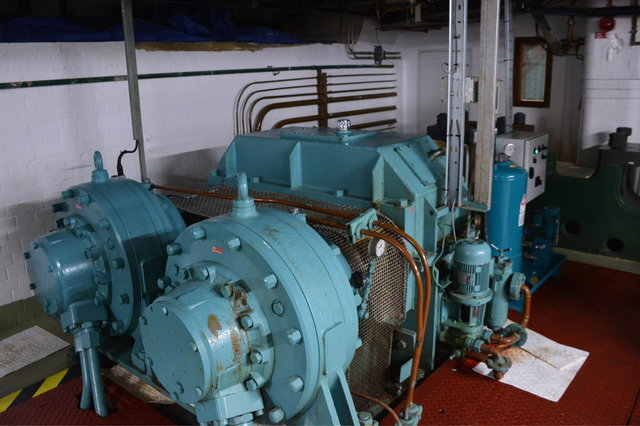 Active hydraulic motor in the Tower Bridge machine room