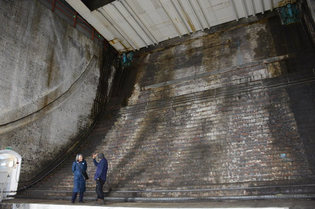 Inside the bascule chamber under the Tower Bridge