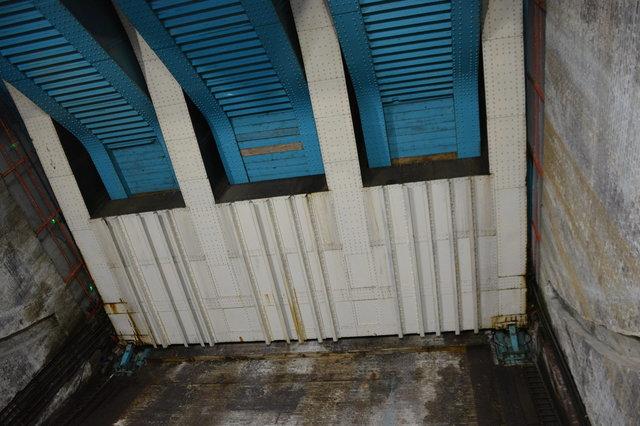 Bridge counterweight under the Tower Bridge