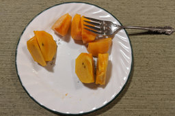Persimmons from our tree
