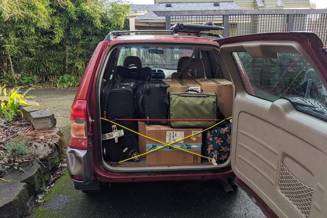 Motoko packed for Christmas