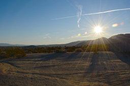 Morning sun over Twentynine Palms