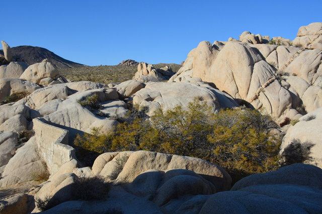 Squaw Tank among boulders