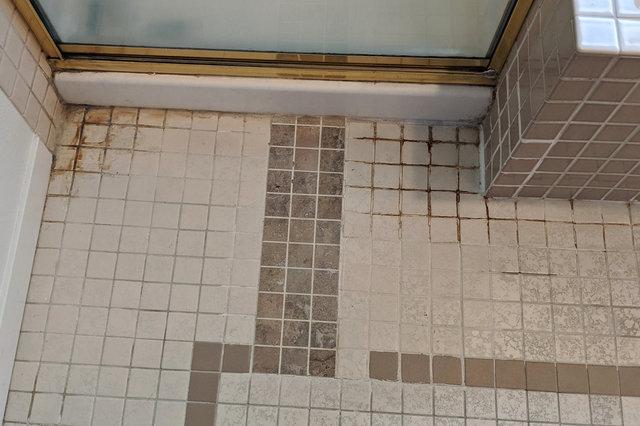 Tile in front of Wallingford master bath shower