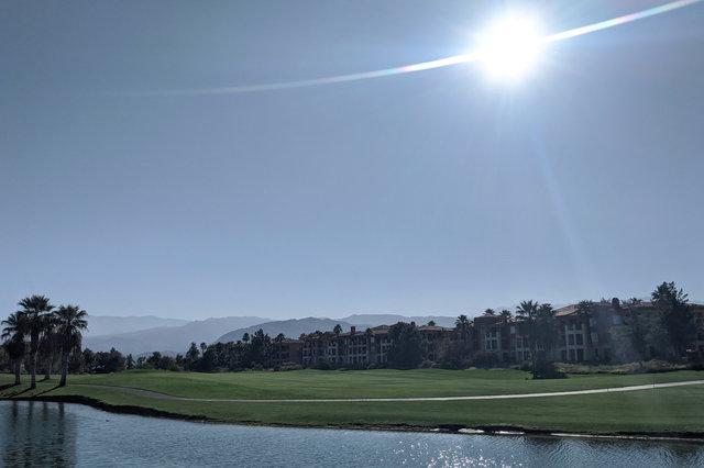 Sun over the golf course at Marriott Shadow Ridge