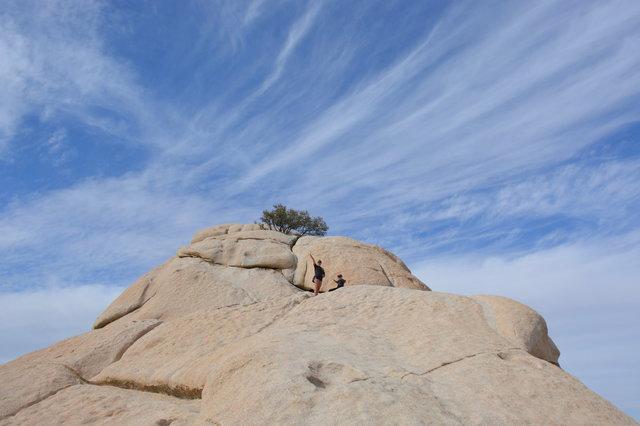 Sharon and Calvin on Point 4320 overlooking Hidden Valley