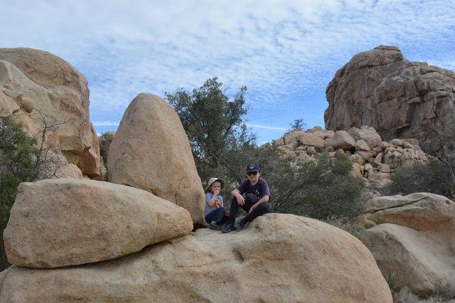 Julian and Calvin in Hidden Valley
