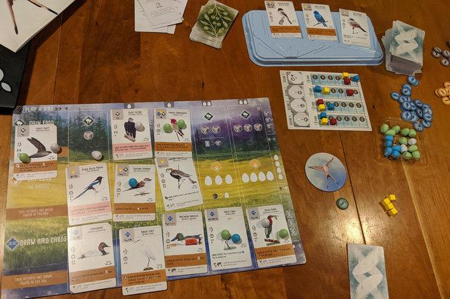 Wingspan game board