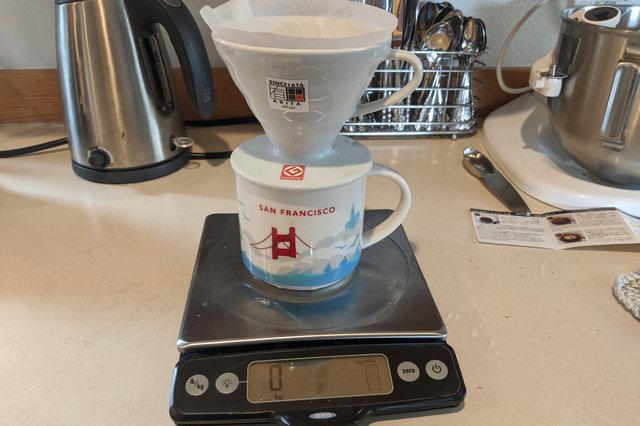 Hario V60 pour-over coffee