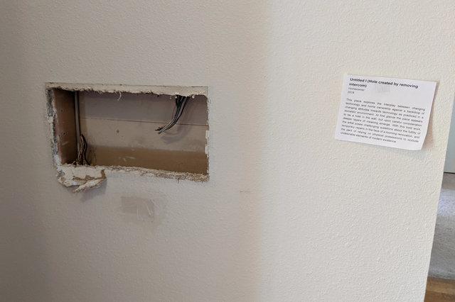 In-wall intercom removed