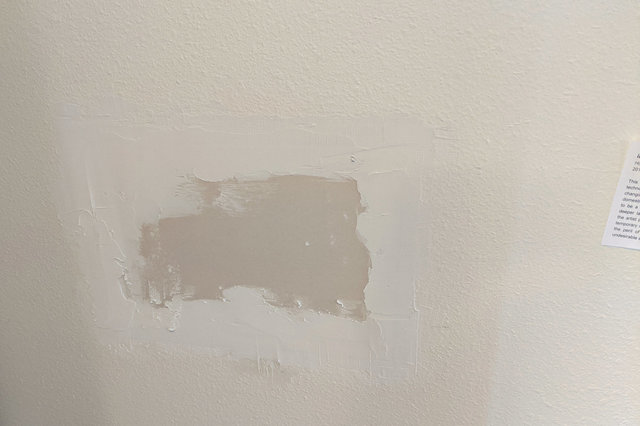 Drywall patch with spackle