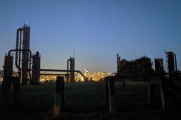 Gasworks Park at night