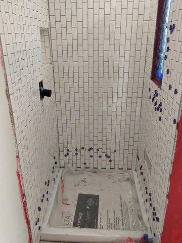 Shower tile complete