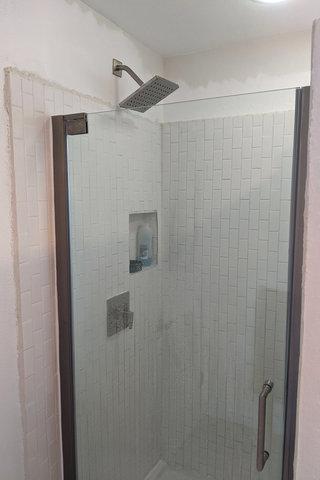 Shower running