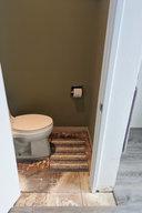 Toilet room waiting for new floor