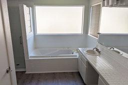 Completed master bathroom