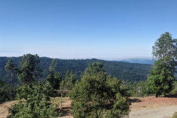 Monterey Peninsula and Santa Cruz from Loma Prieta